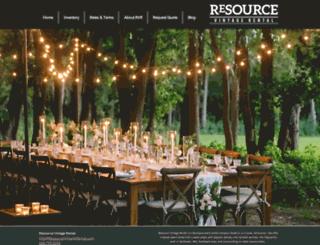 resourcevintagerental.com screenshot