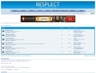 resplect.justforum.net screenshot