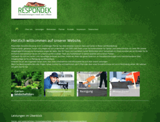 respondek-hausdienstleistung.de screenshot
