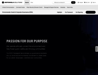 responsibility.motorolasolutions.com screenshot