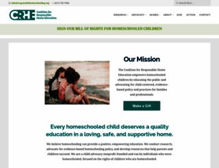 responsiblehomeschooling.org screenshot