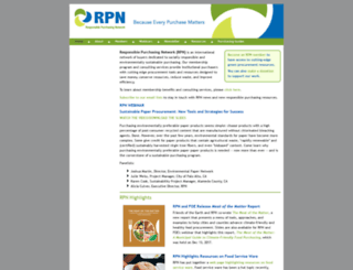 responsiblepurchasing.org screenshot