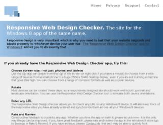 responsivewebdesignchecker.azurewebsites.net screenshot