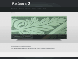 restaura2.es screenshot