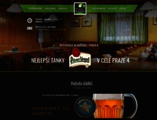 restaurace-nakopecku.cz screenshot