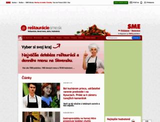 restauracie.sk screenshot
