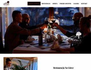 restauracjanagorce.pl screenshot