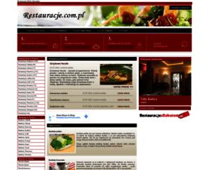 restauracje.com.pl screenshot