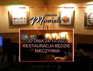 restauracjemaciek.pl screenshot