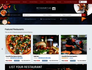 restaurant.mu screenshot