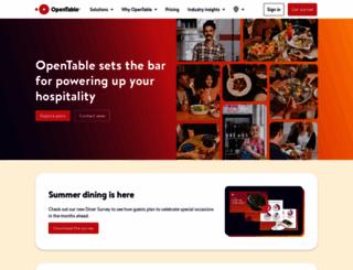 restaurant.opentable.co.uk screenshot