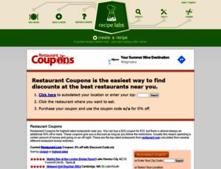 restaurantcoupons.us screenshot