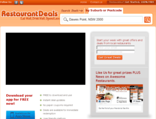 restaurantdeals.com.au screenshot