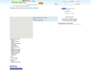 restaurante-el-brasero-de-don-pedro-en--madrid.buscalis.com screenshot