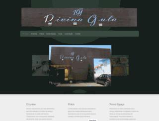 restaurantedivinagula.com.br screenshot
