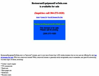 restaurantequipmentforsale.com screenshot