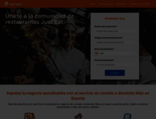 restaurantes.just-eat.es screenshot