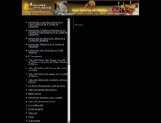 restaurantes.rinconesdemitierra.com screenshot