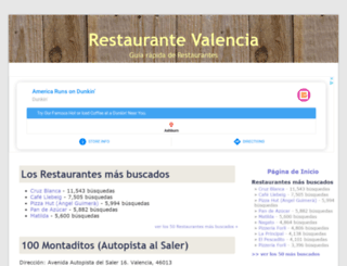 restaurantevalencia.net screenshot