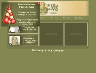 restaurantevilladavo.com.br screenshot