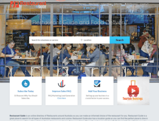 restaurantguide.net.au screenshot