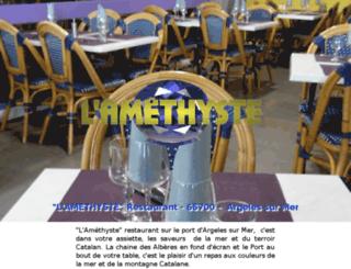 restaurantlamethyste.com screenshot