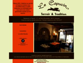 restaurantlecapucin.fr screenshot