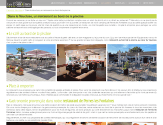 restaurantlespalmiers.fr screenshot