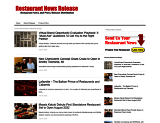 restaurantnewsrelease.com screenshot