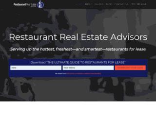 restaurantrealestateadvisors.com screenshot