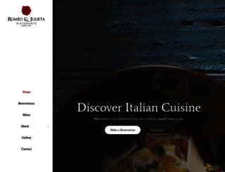 restaurantromeoyjulieta.com screenshot
