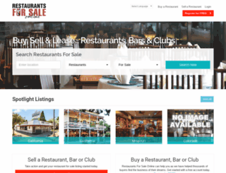 restaurants-for-sale.com screenshot