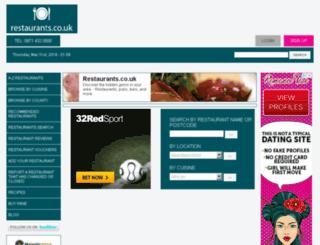 restaurants.co.uk screenshot