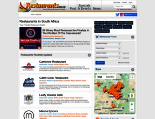 restaurants.co.za screenshot