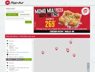 restaurants.pizzahut.co.in screenshot