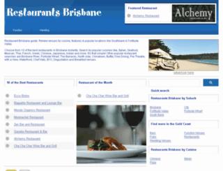 restaurantsbrisbane.net.au screenshot