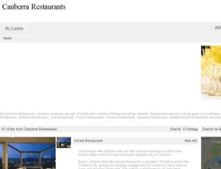 restaurantscanberra.com.au screenshot