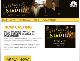 restaurantstartupcasting.com screenshot