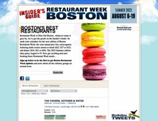 restaurantweekboston.com screenshot