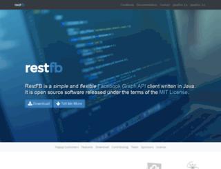 restfb.com screenshot