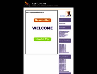 restonews.bilkent.edu.tr screenshot