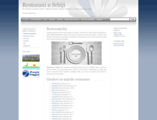 restorani.biz screenshot