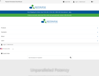 restorativeformulations.com screenshot