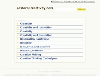 restoredcreativity.com screenshot