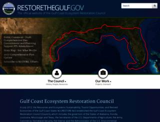 restorethegulf.gov screenshot