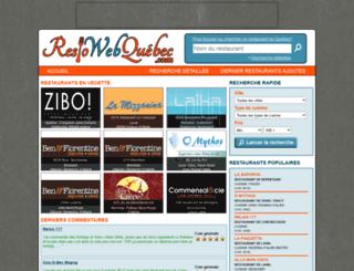 restowebquebec.com screenshot