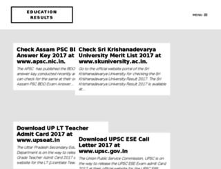 result-edu.in screenshot