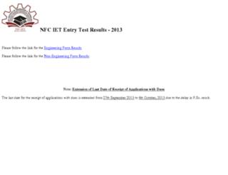 result.nfciet.edu.pk screenshot
