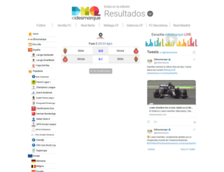 resultados.eldesmarque.com screenshot