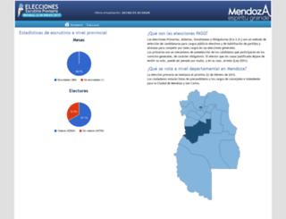 resultados2015.mendoza.gov.ar screenshot